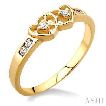 Twin Heart Shape Diamond Ring