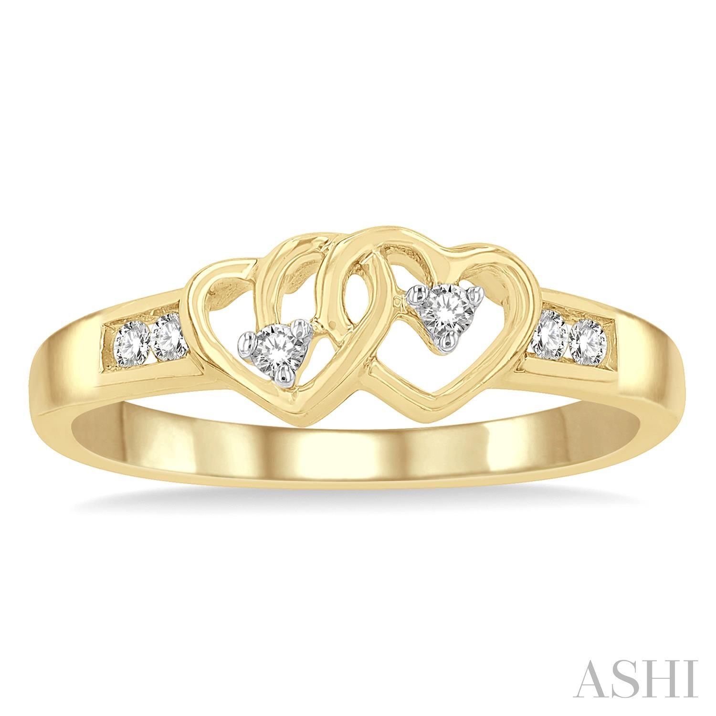 Twin Heart Shape Diamond Ring