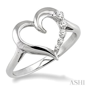 Journey Heart Shape Diamond Ring