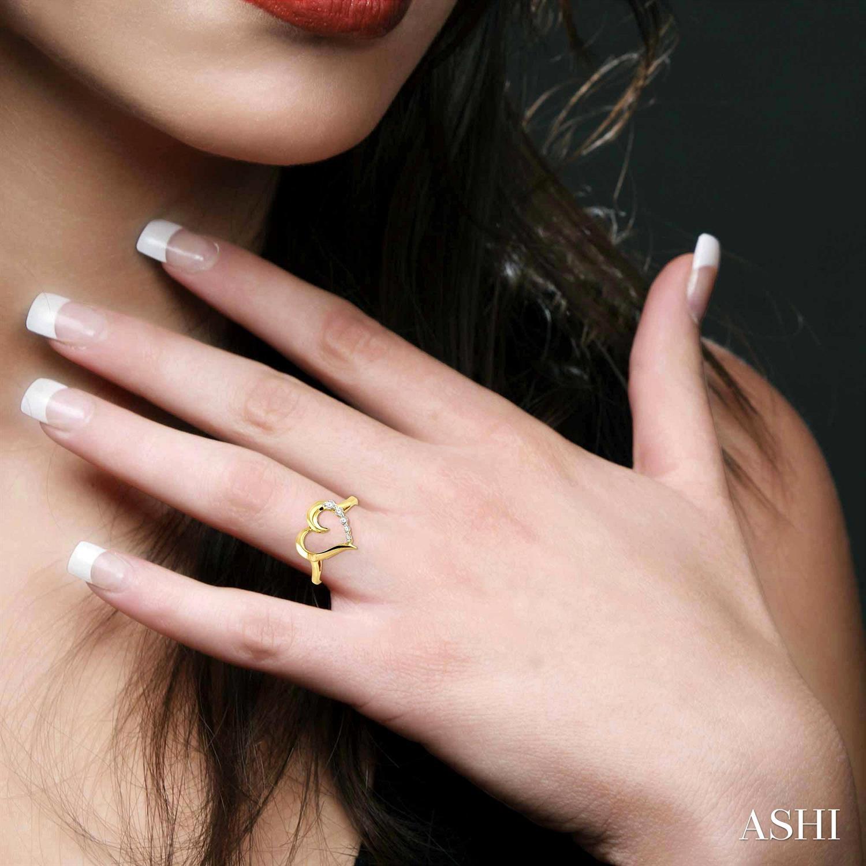 Journey Heart Shape Diamond Ring
