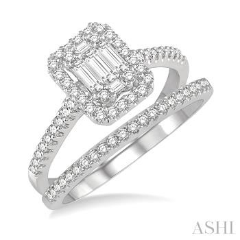 Fusion Diamond Wedding Set
