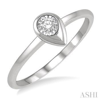 Pear Shape Diamond Promise Ring