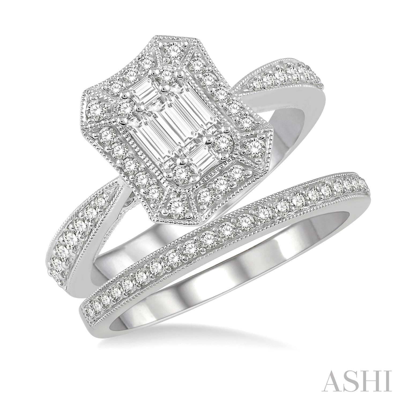 Fusion Diamond Wedding Set