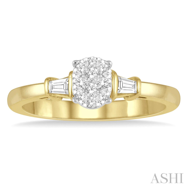 Oval Shape Lovebright Diamond Engagement Ring