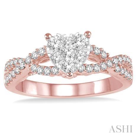 Heart Shape Lovebright Bridal Diamond Engagement Ring