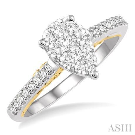 Pear Shape Lovebright Bridal Diamond Ring