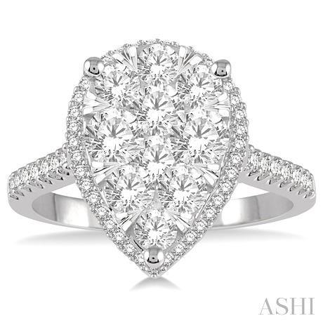 Pear Shape Lovebright Essential Diamond Ring