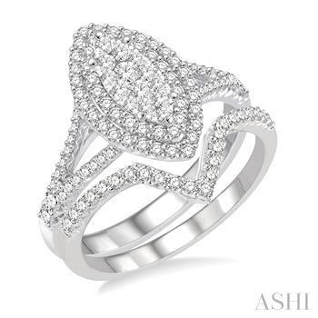 Marquise Shape Lovebright Bridal Diamond Wedding Set