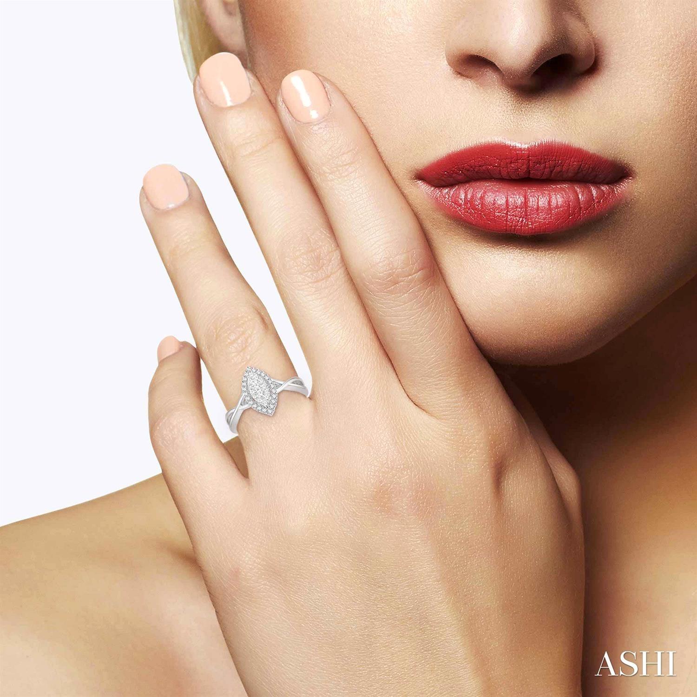Marquise Shape Lovebright Diamond Ring