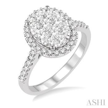 Oval Shape Lovebright Bridal Diamond Engagement Ring