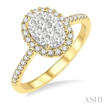 Oval Shape Lovebright Bridal Diamond Engagement Ring
