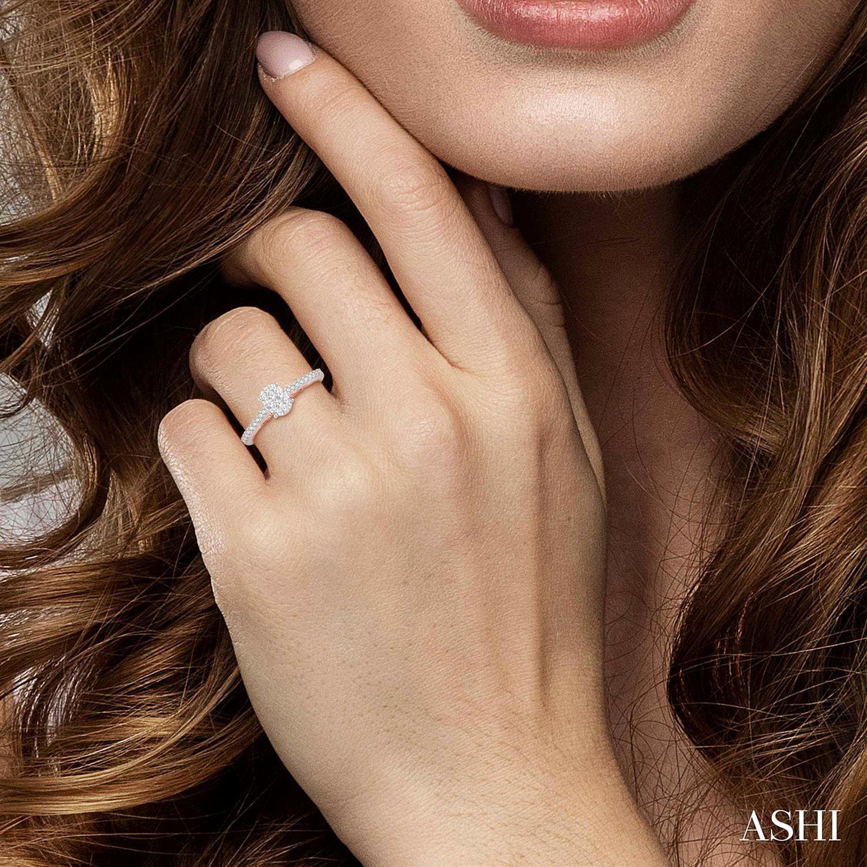 Oval Shape Lovebright Bridal Diamond Ring