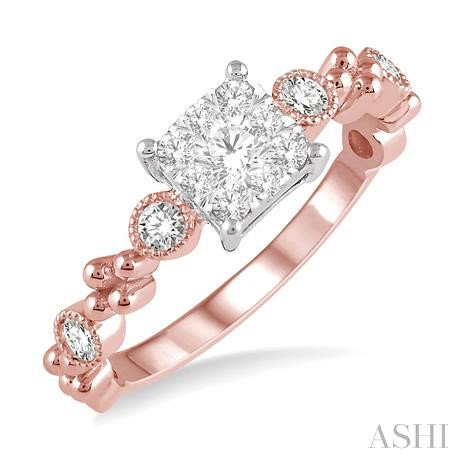 Princess Shape Lovebright Diamond Ring