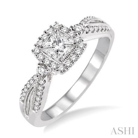 Semi-Mount Diamond Engagement Ring
