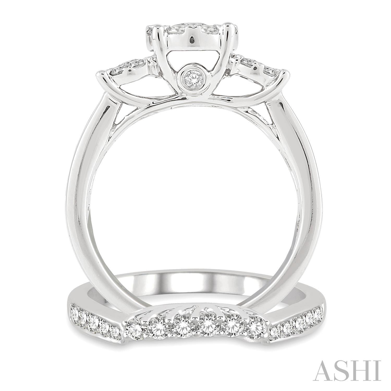 Past Present & Future Lovebright Bridal Diamond Wedding Set
