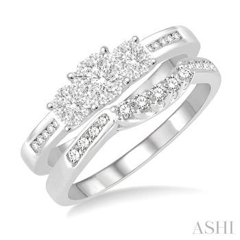 Past Present & Future Lovebright Bridal Diamond Wedding Set