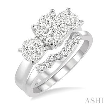 Past Present & Future Lovebright Essential Diamond Wedding Set