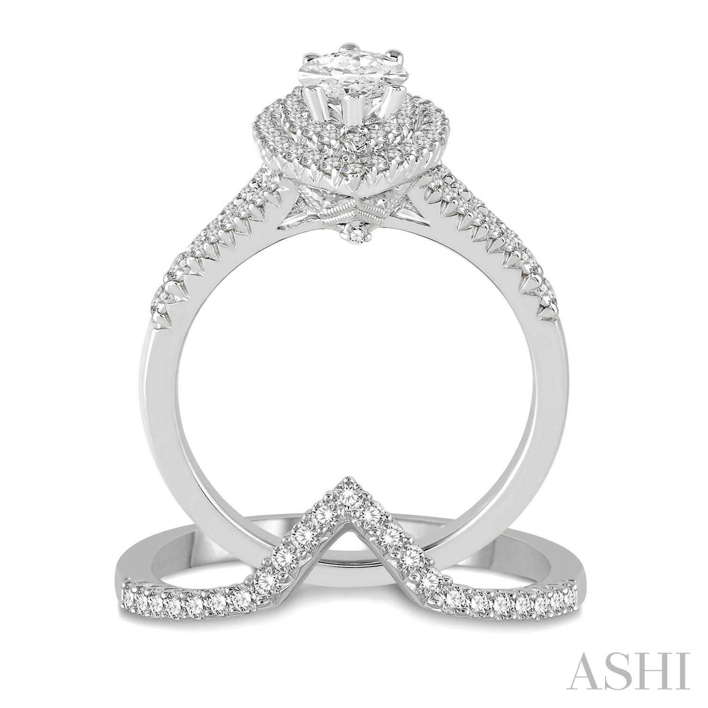 Marquise Shape Diamond Wedding Set