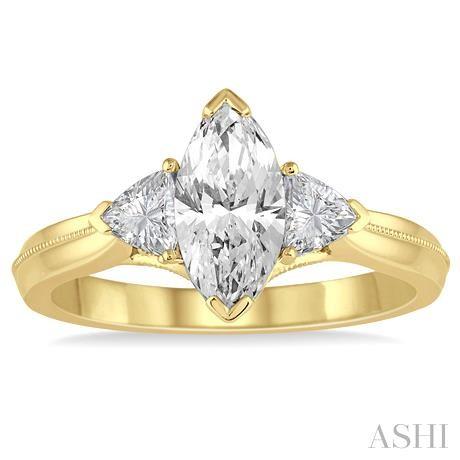 Marquise Semi-Mount Diamond Engagement Ring