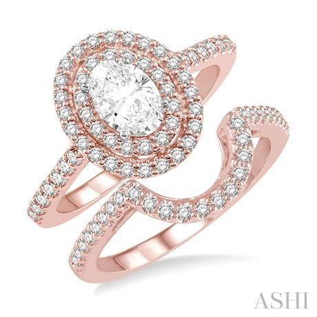 Oval Shape Diamond Wedding Set