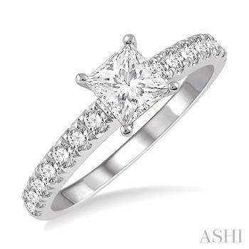 Square Shape Diamond Engagement Ring