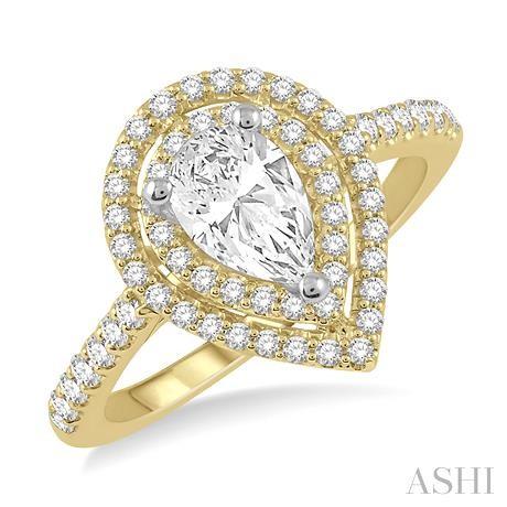 Pear Shape Diamond Engagement Ring
