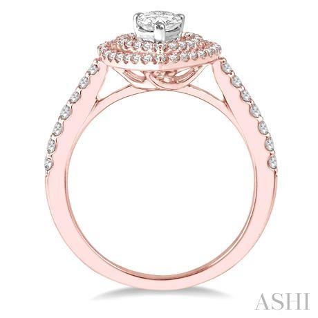 Pear Shape Semi-Mount Diamond Engagement Ring