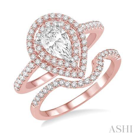 Pear Shape Diamond Wedding Set