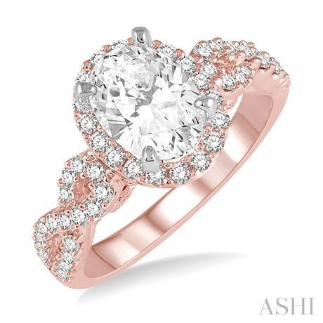 Oval Shape Semi-Mount Diamond Engagement Ring