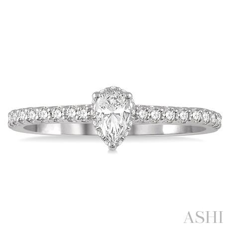 Pear Semi-Mount Diamond Engagement Ring