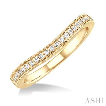 Diamond Curved Wedding Band