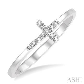 Diamond Fashion Cross Ring