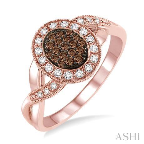 Oval Shape Champagne Diamond Ring