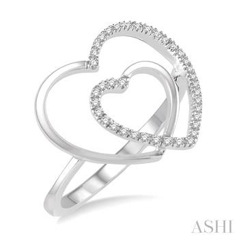 Double Heart Shape Diamond Ring