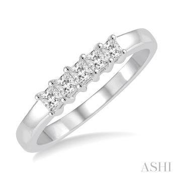 FIVE STONE DIAMOND WEDDING BAND