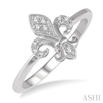 Diamond Fleur De Lis Ring