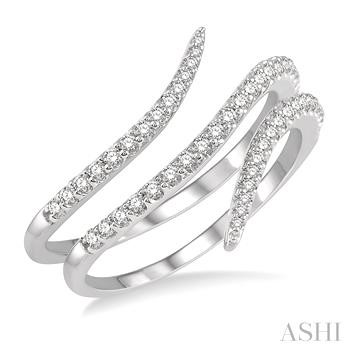 Diamond Open Spiral Fashion Ring