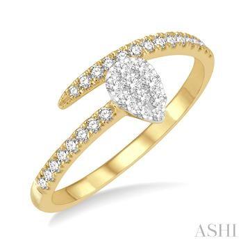 Pear Shape Lovebright Diamond Fashion Ring