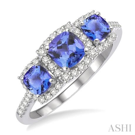 Past Present & Future Gemstone & Diamond Ring