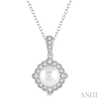 Gemstone & Diamond Fleur De Lis Pendant