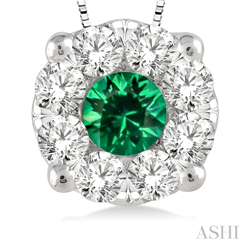 Lovebright Gemstone & Diamond Pendant