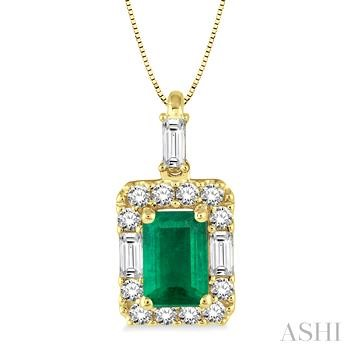 Gemstone & Diamond Pendant