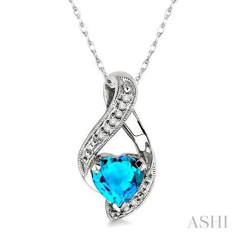 HEART GEMSTONE & DIAMOND PENDANT