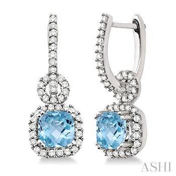 Gemstone & Diamond Earrings