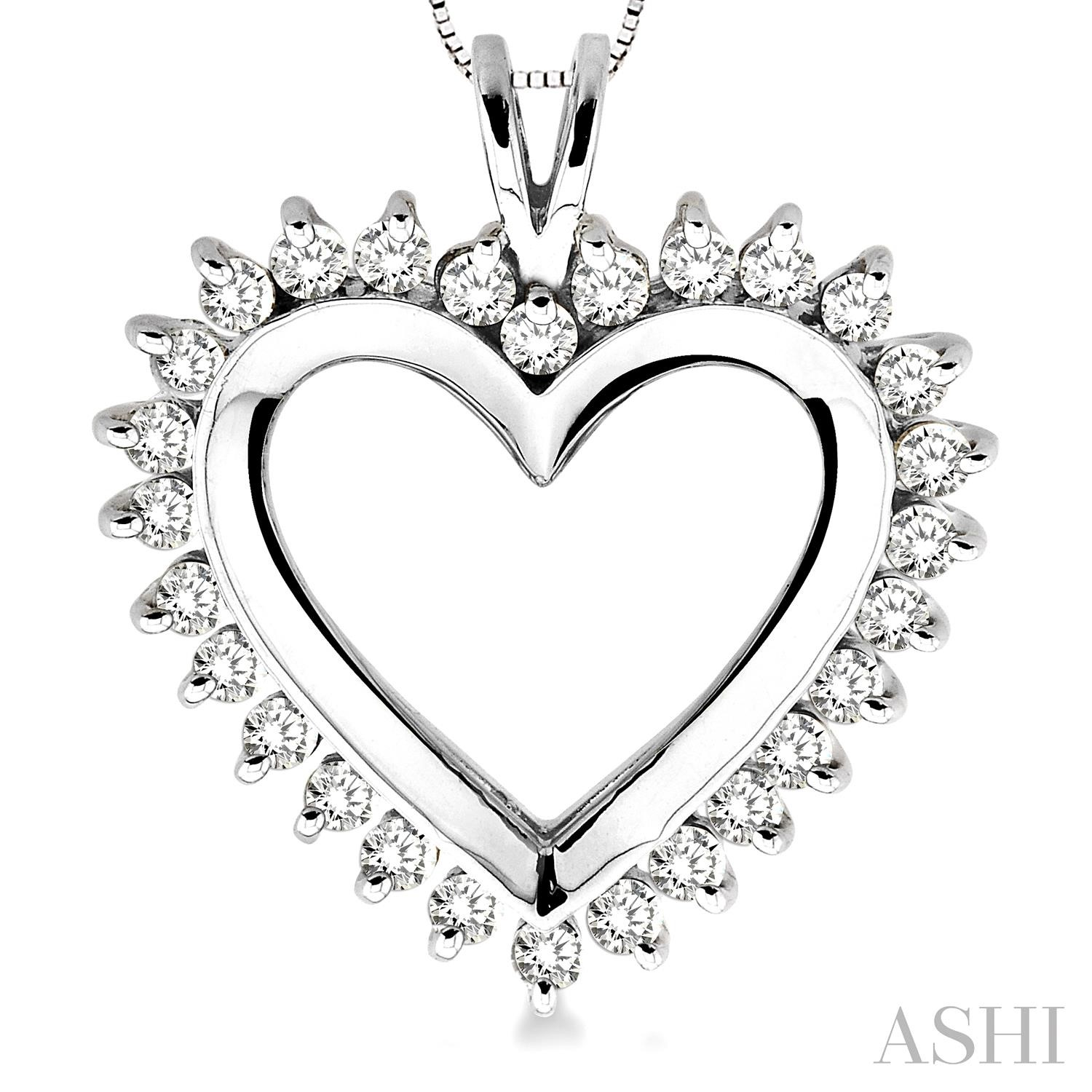 Heart Shape Diamond Pendant