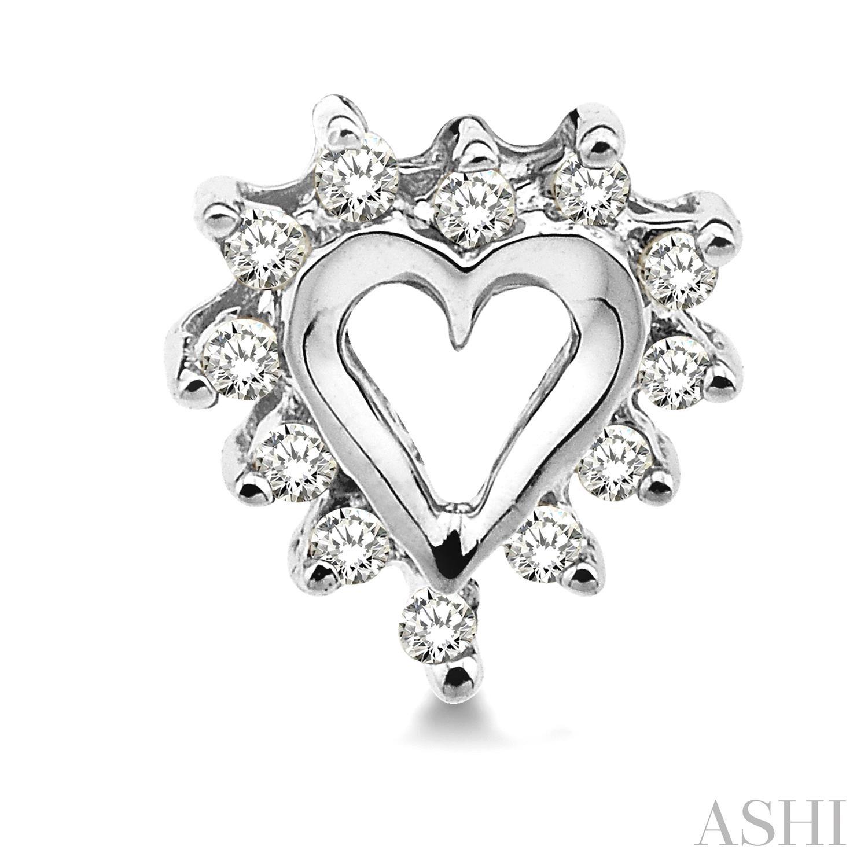 Heart Shape Diamond Earrings