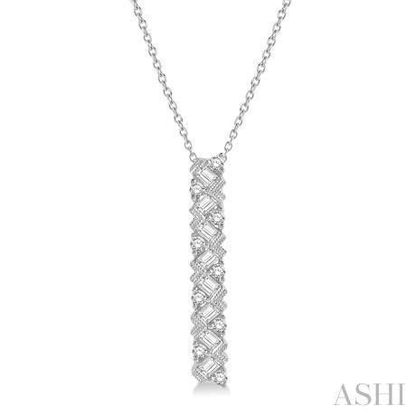 Diamond Straight Bar Pendant
