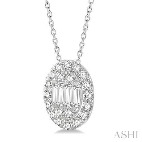 Oval Shape Diamond Pendant