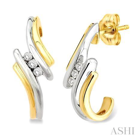 Three Stone Diamond Earrings