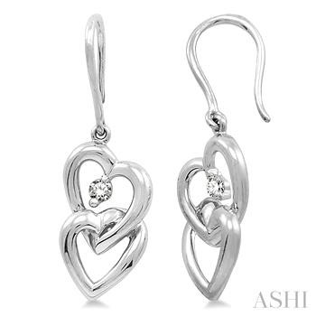 TWIN HEART DIAMOND EARRINGS